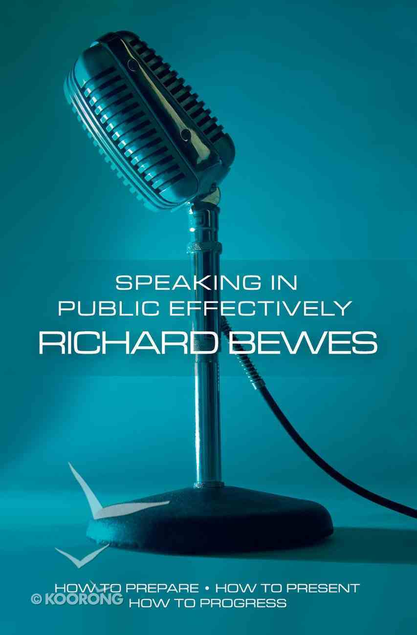 Speaking in Public Effectively Paperback