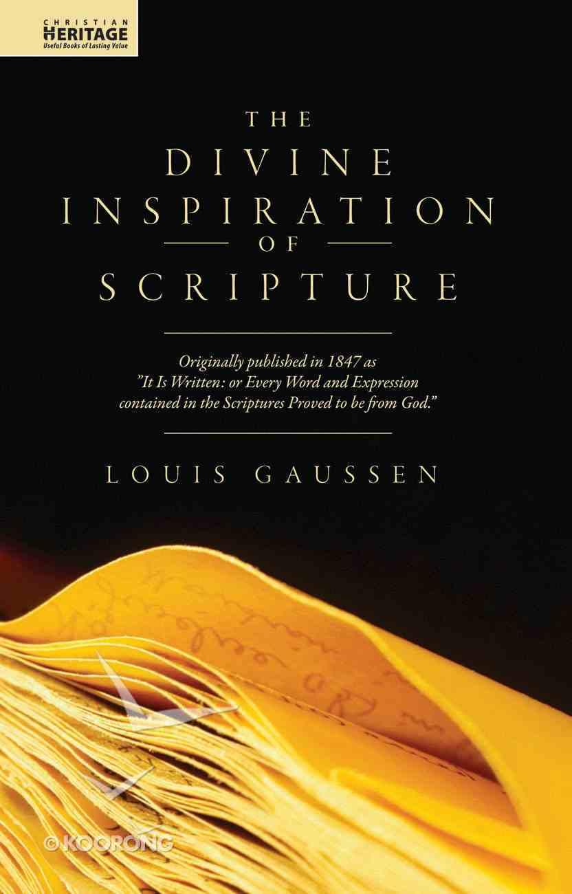 Divine Inspiration of Scripture Hardback