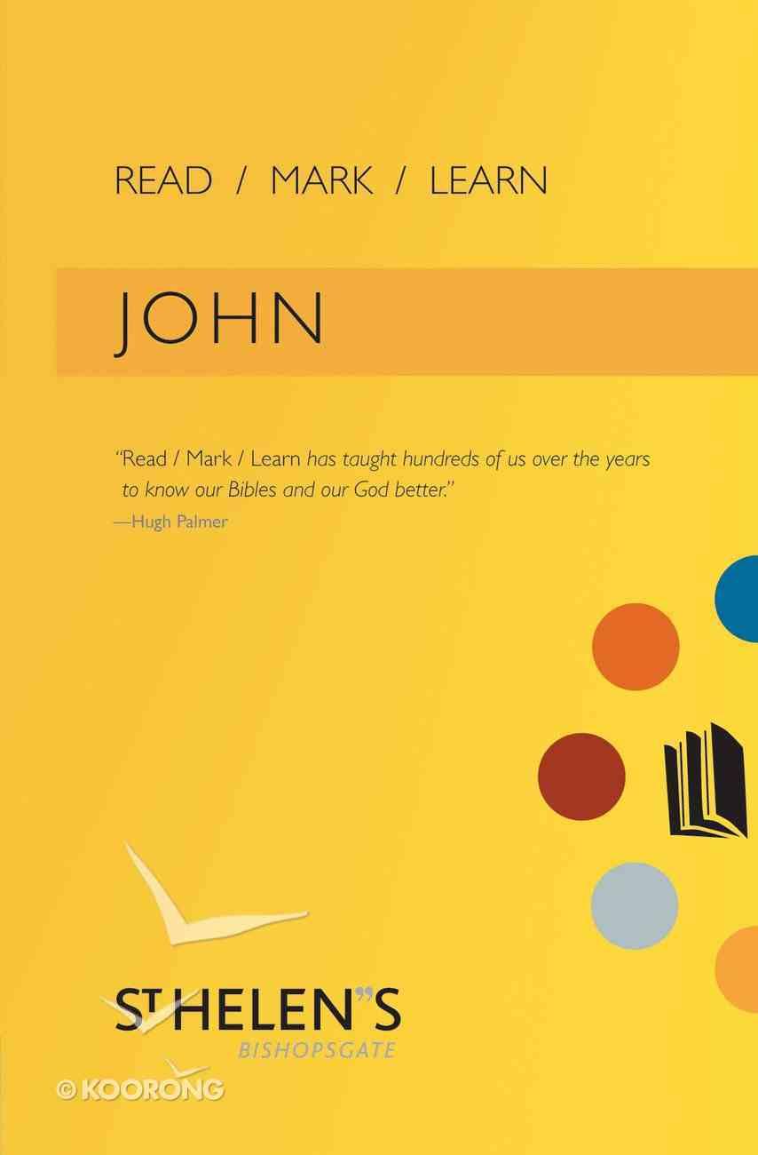 John (Read Mark Learn Series) Paperback