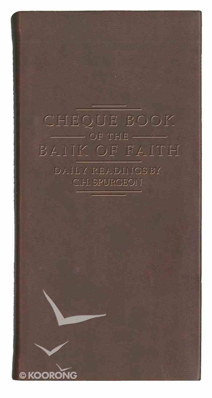 Cheque Book of the Bank of Faith (Burgundy) Imitation Leather