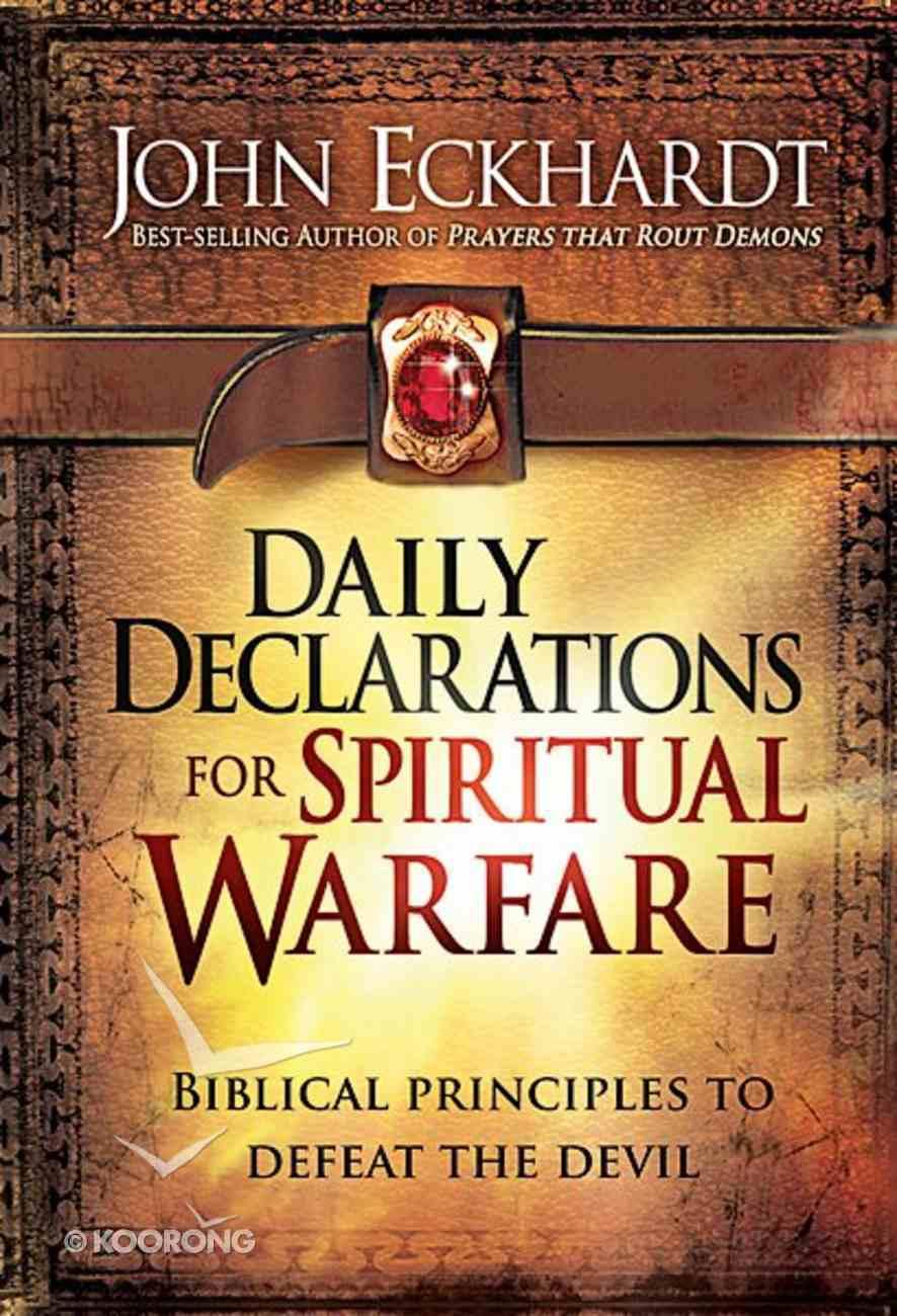 Daily Declarations For Spiritual Warfare Hardback