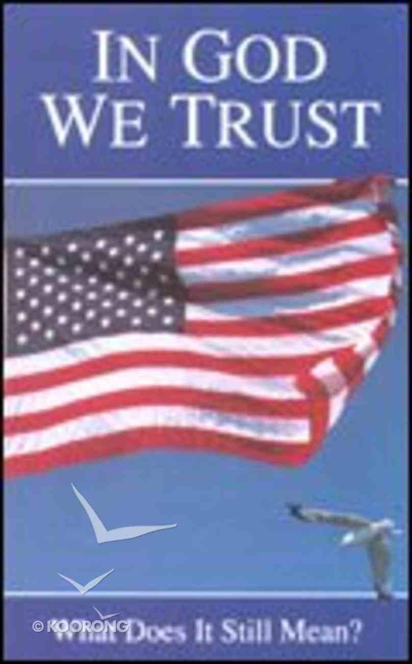 In God We Trust (25 Pack) Booklet