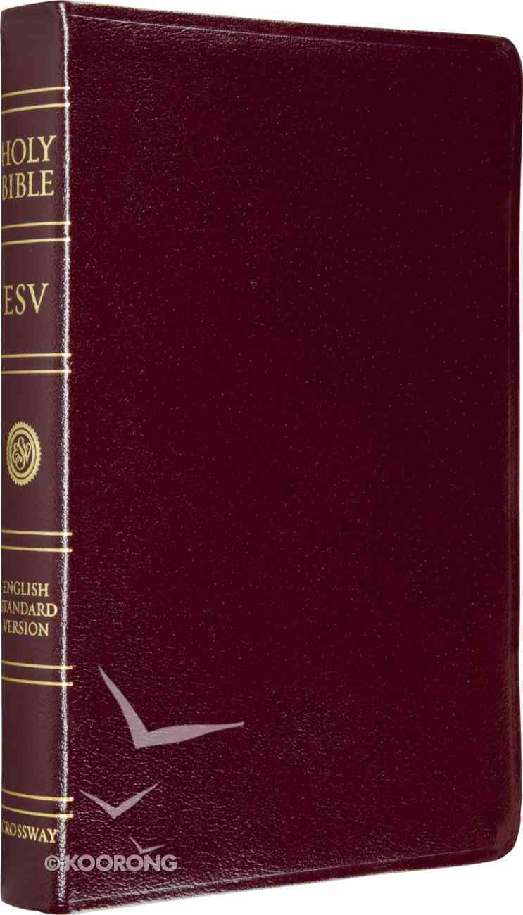 ESV Bible Burgundy Indexed Genuine Leather