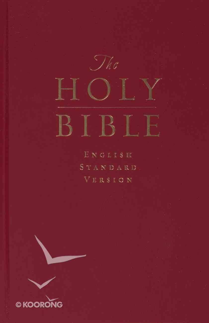 ESV Premium Pew Bible Dark Red (Black Letter Edition) Hardback