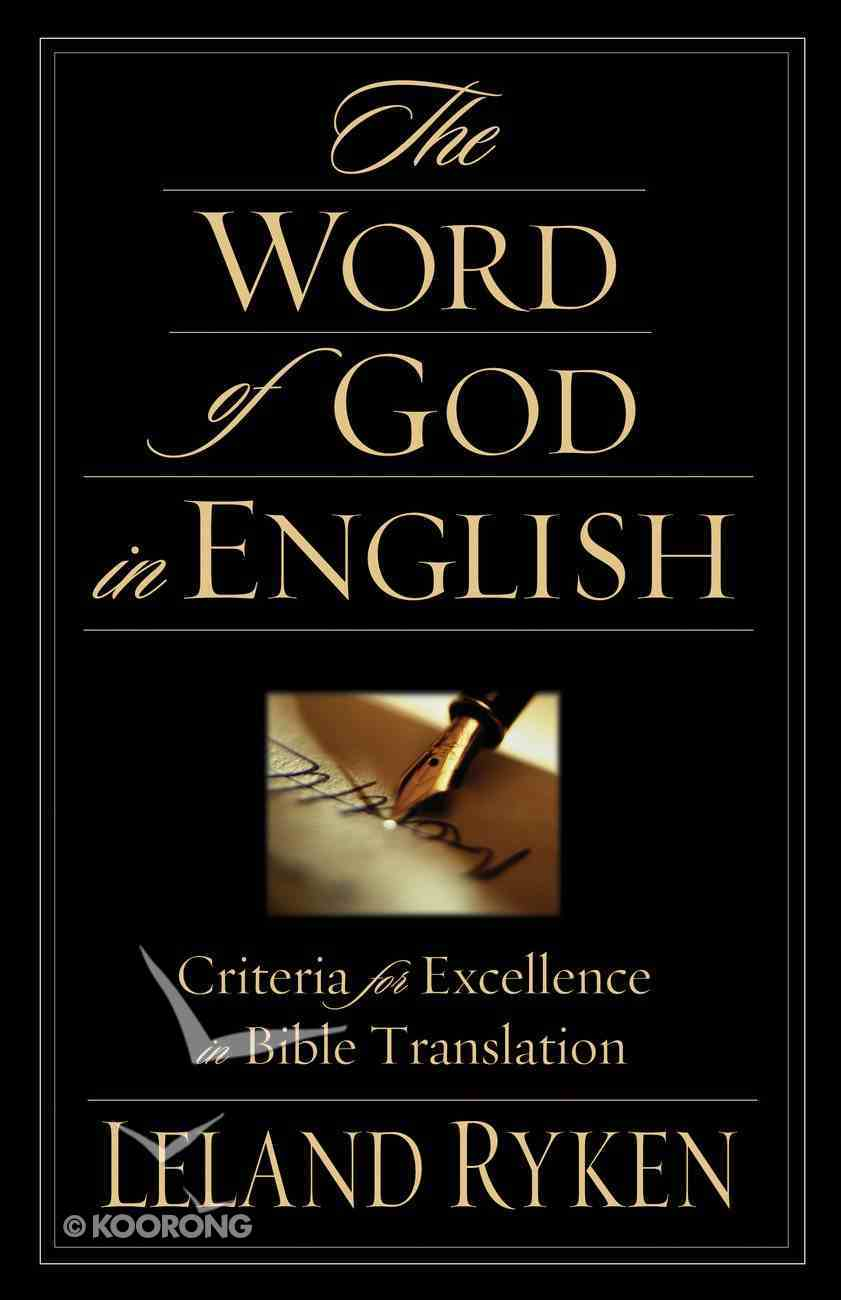 The Word of God in English Paperback