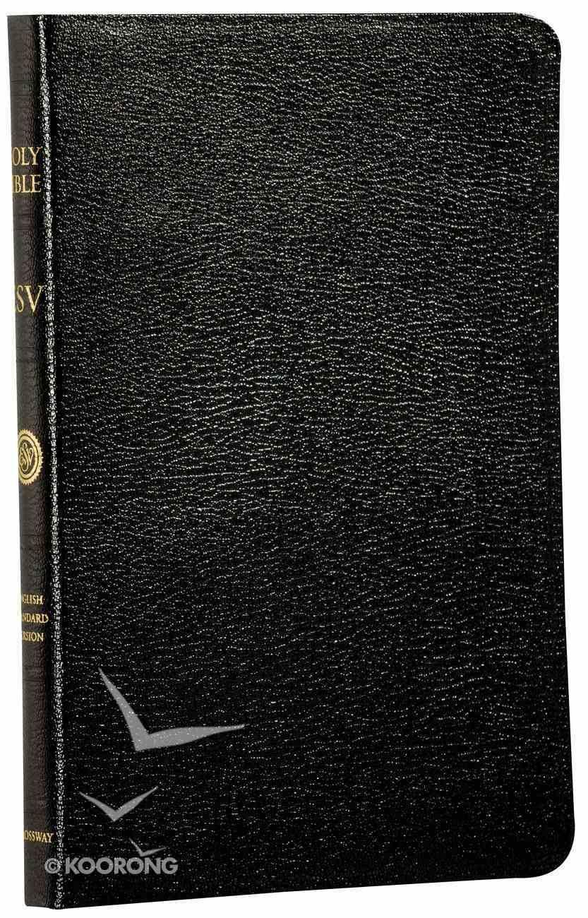 ESV Thinline Black Black Letter Genuine Leather