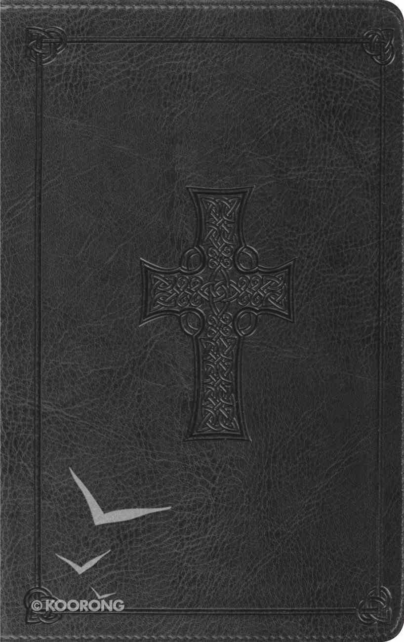 ESV Thinline Bible Charcoal Celtic Cross Design (Red Letter Edition) Imitation Leather
