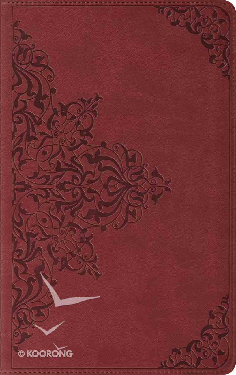ESV Thinline Trutone Nutmeg Filigree Design (Red Letter Edition) Imitation Leather