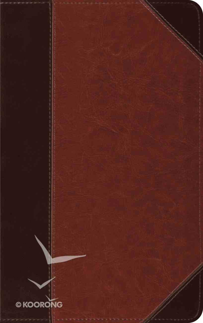 ESV Thinline Bible Brown Cordovan Portfolio Design (Red Letter Edition) Imitation Leather