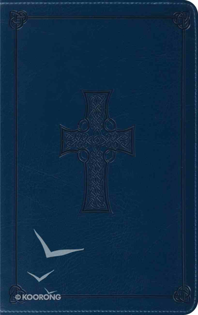 ESV Thinline Trutone Royal Blue Celtic Cross Design (Red Letter Edition) Imitation Leather
