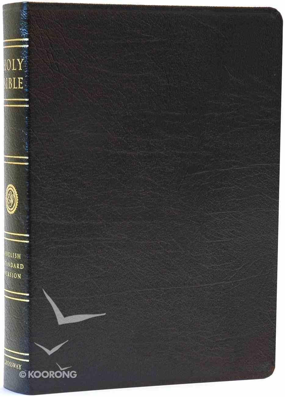 ESV Wide Margin Reference Bible Black Genuine Leather