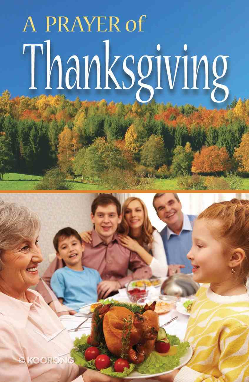 Prayer of Thanksgiving, a NIV (Pack Of 25) Booklet