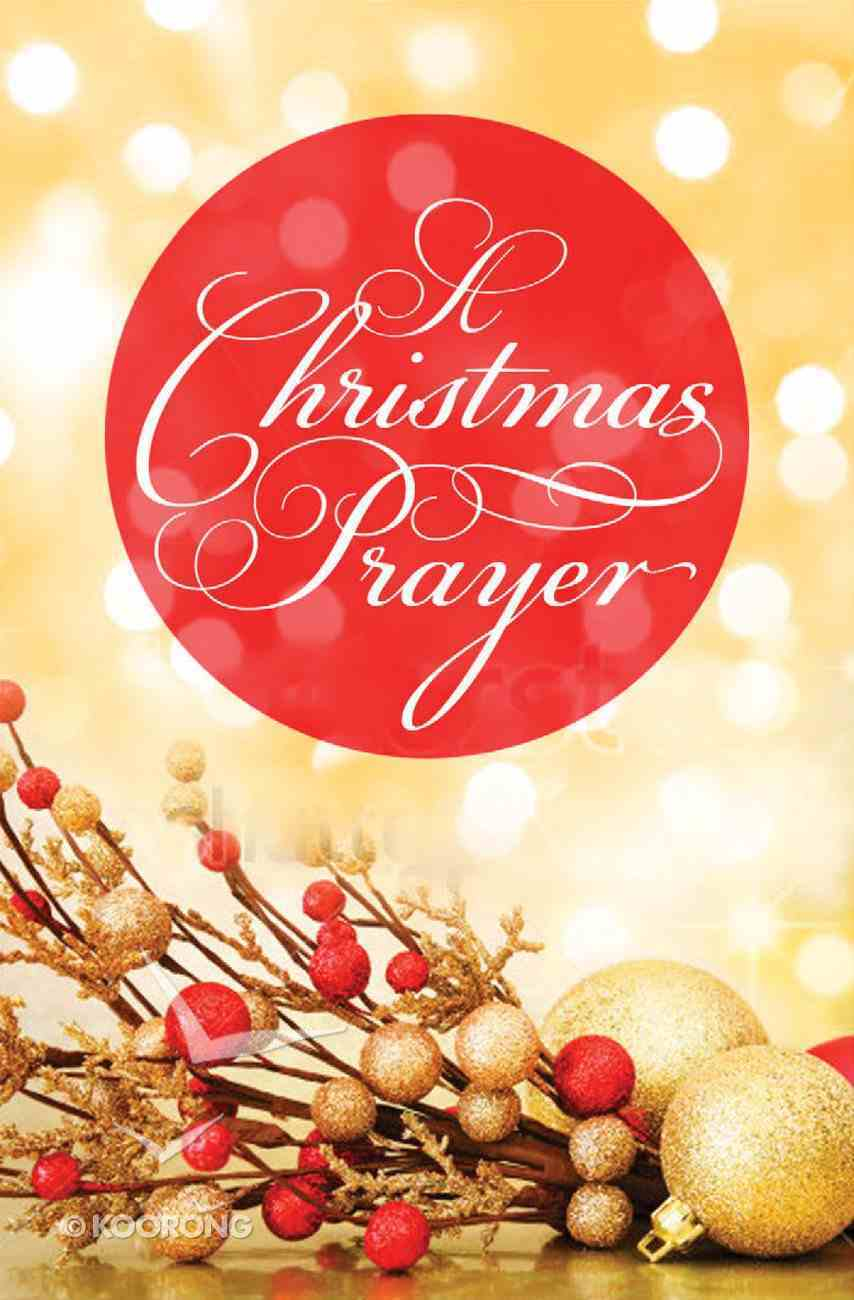 A Christmas Prayer (Pack Of 25) Booklet
