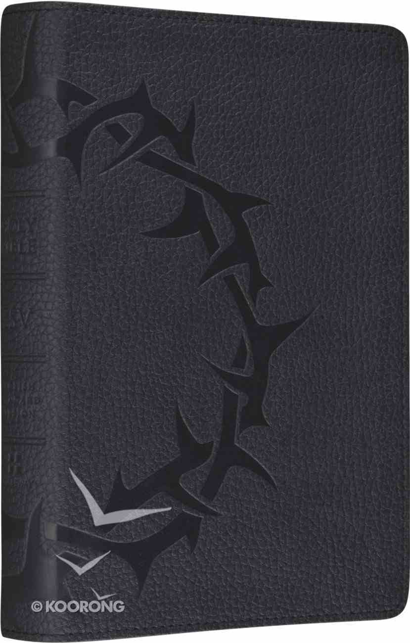 ESV Personal Size Reference Charcoal Trutone Crown Design Imitation Leather