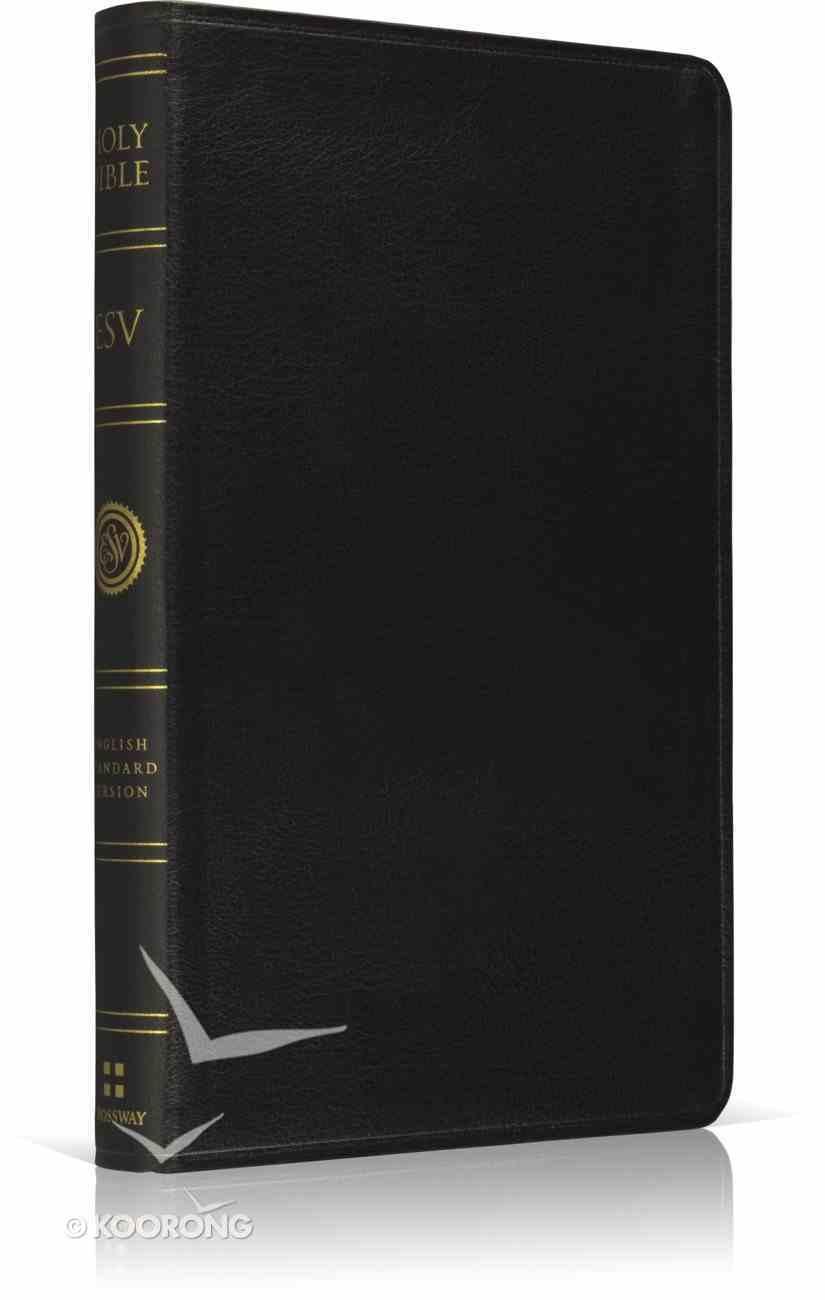 ESV Premium Thinline Bible Black Genuine Leather