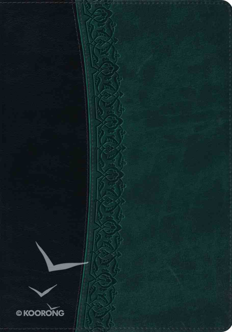 ESV Large Print Bible Black Spruce Garland Imitation Leather