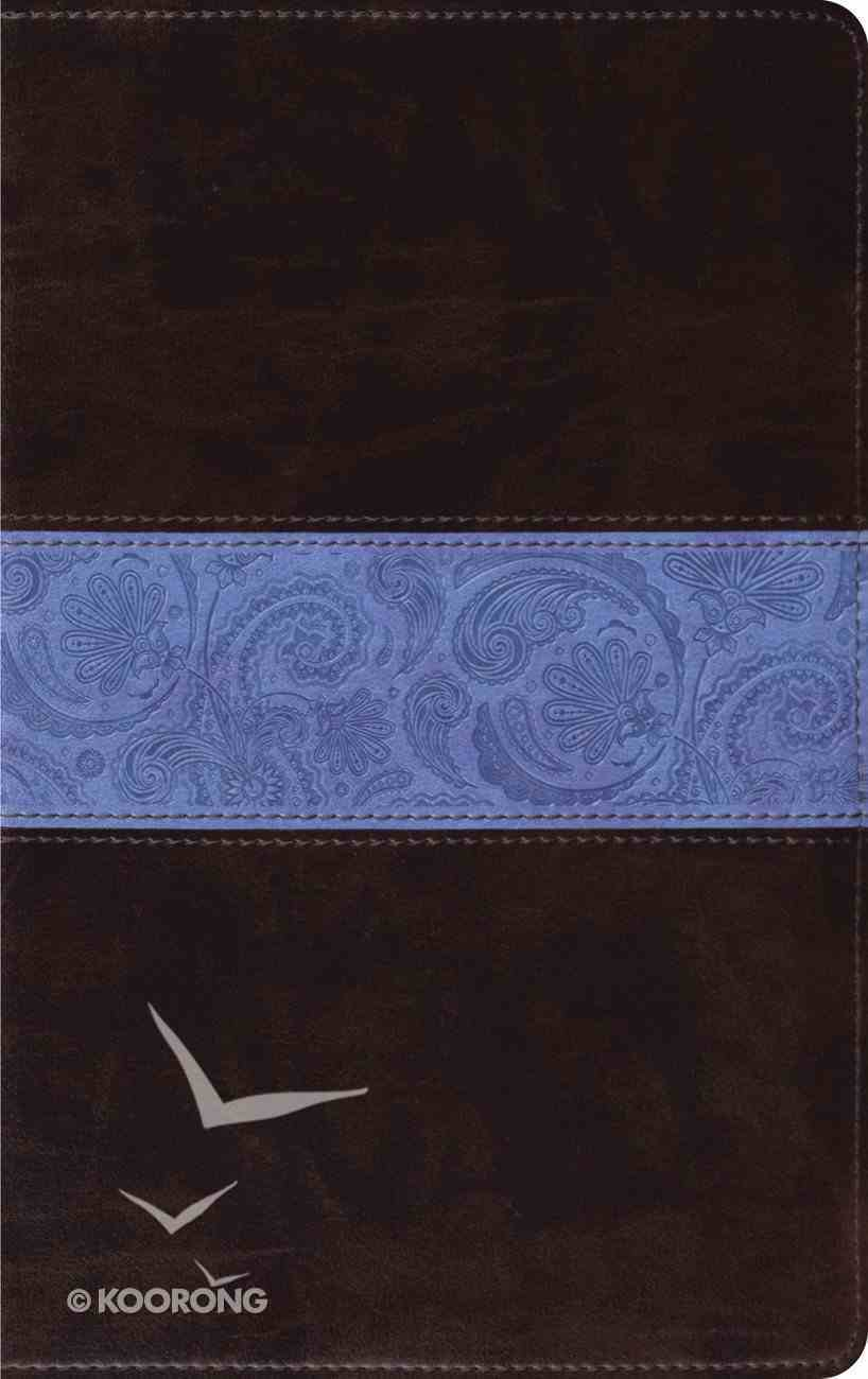 ESV Thinline Chocolate Blue Paisley Band (Red Letter Edition) Imitation Leather