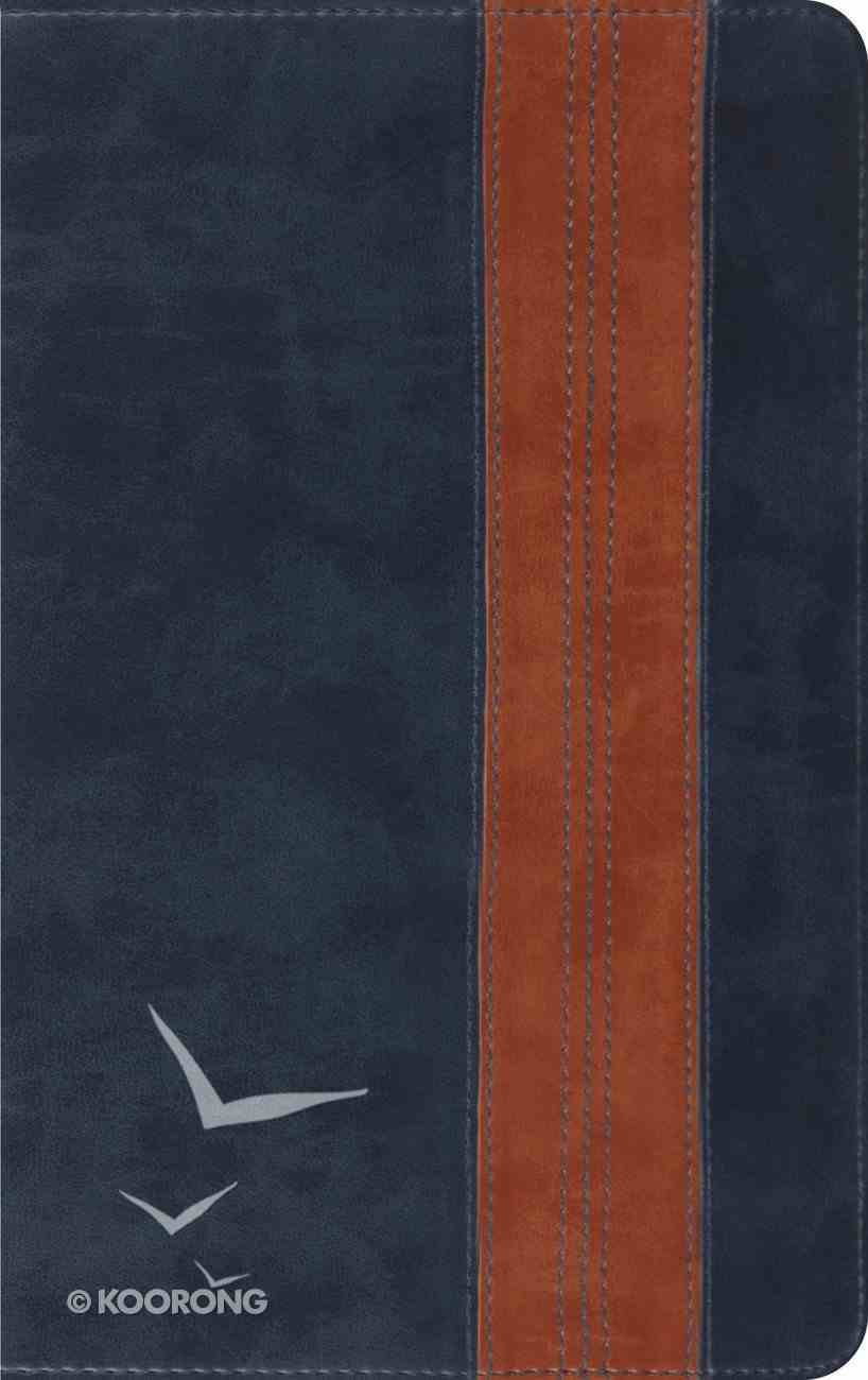ESV Thinline Bible Navy Tan Brand Design Imitation Leather
