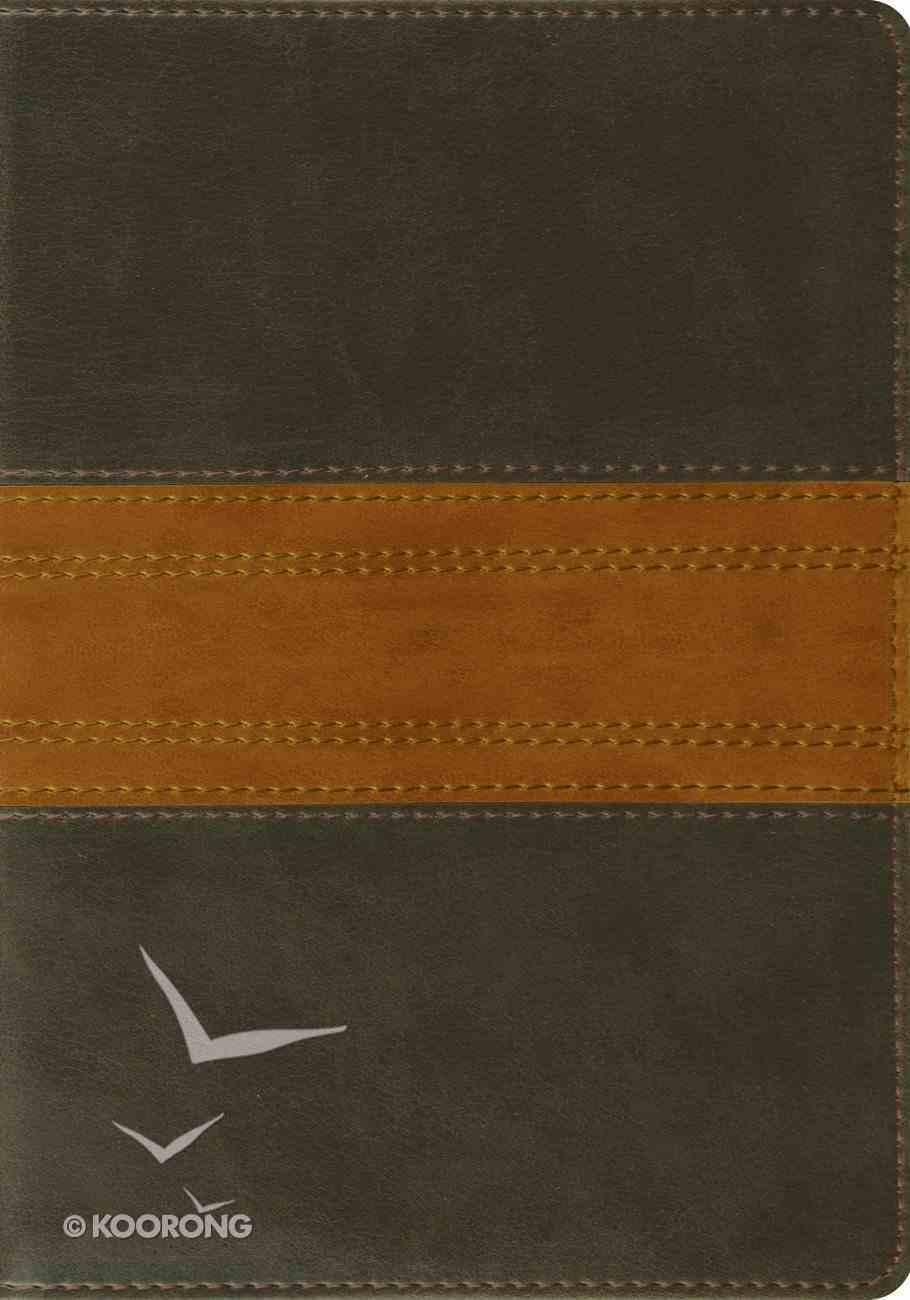 ESV Large Print Forest/Tan Trail Design Imitation Leather