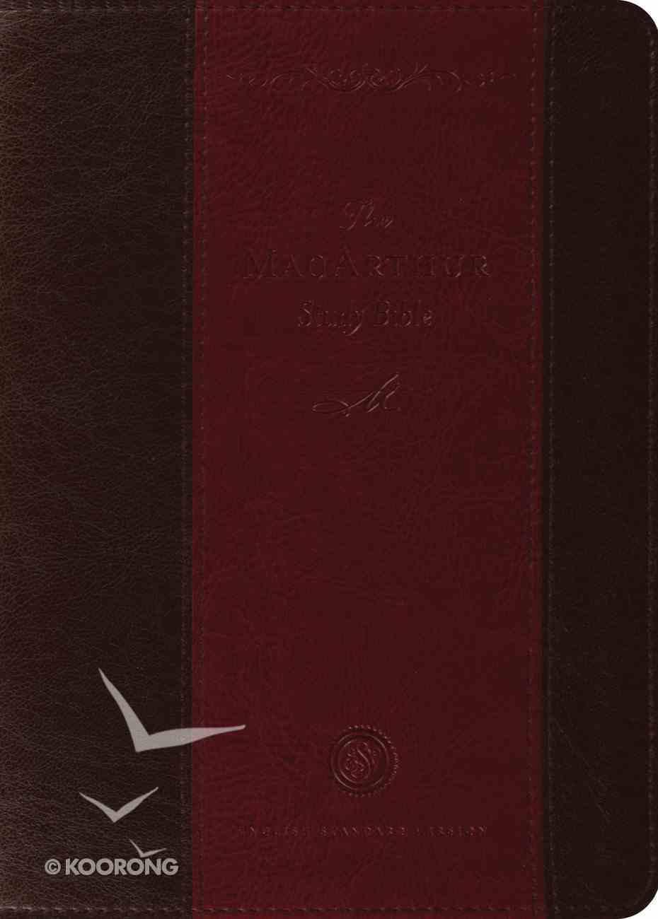 ESV Macarthur Study Brown/Crimson Imitation Leather