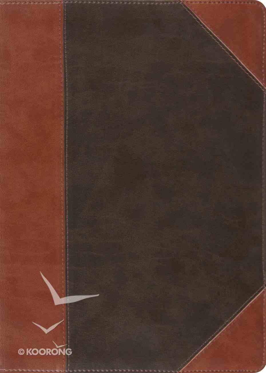 ESV Macarthur Study Forest/Tan Portfolio Design Imitation Leather