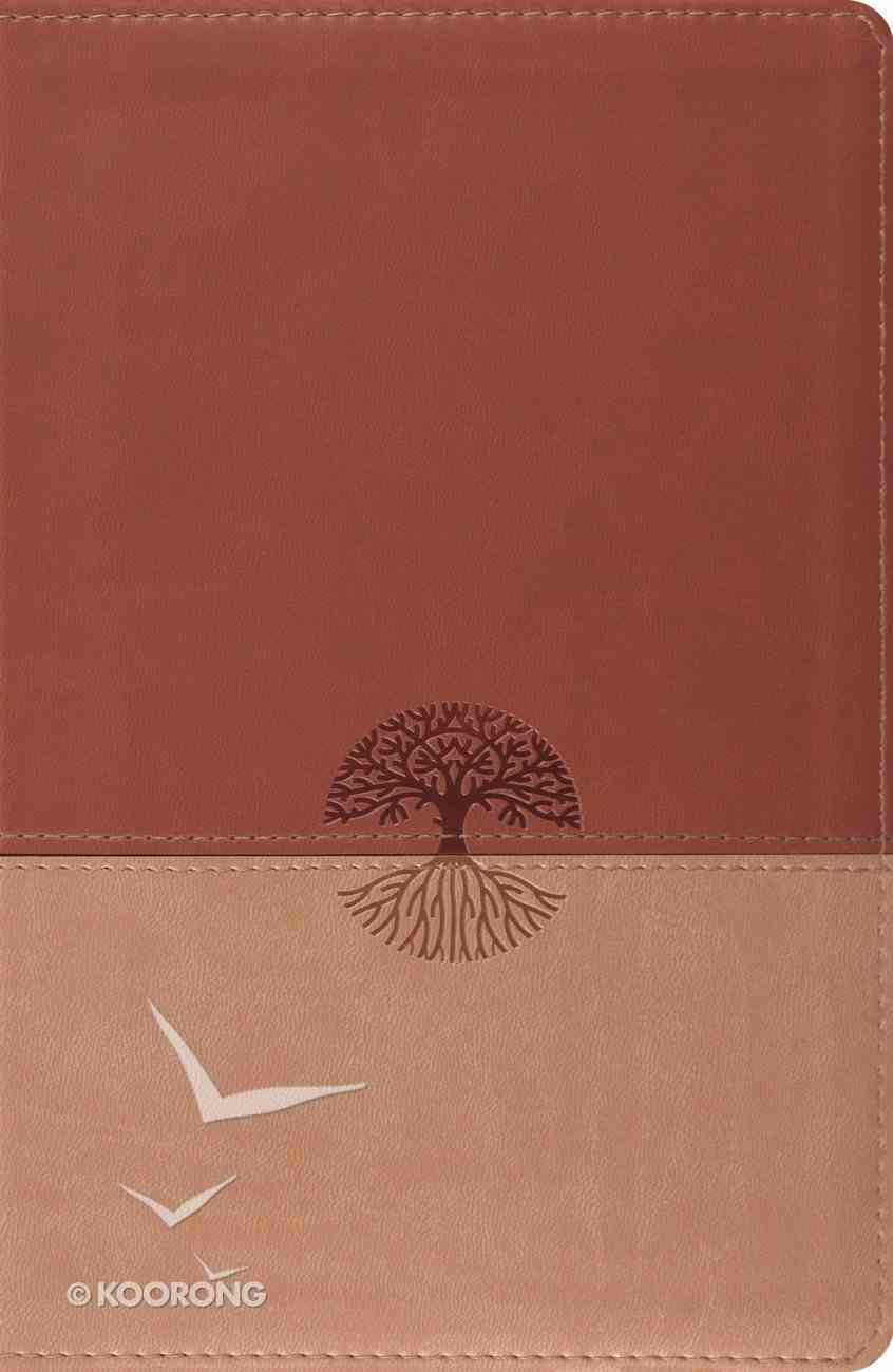 ESV Classic Reference Brown/Tan Tree Design Imitation Leather