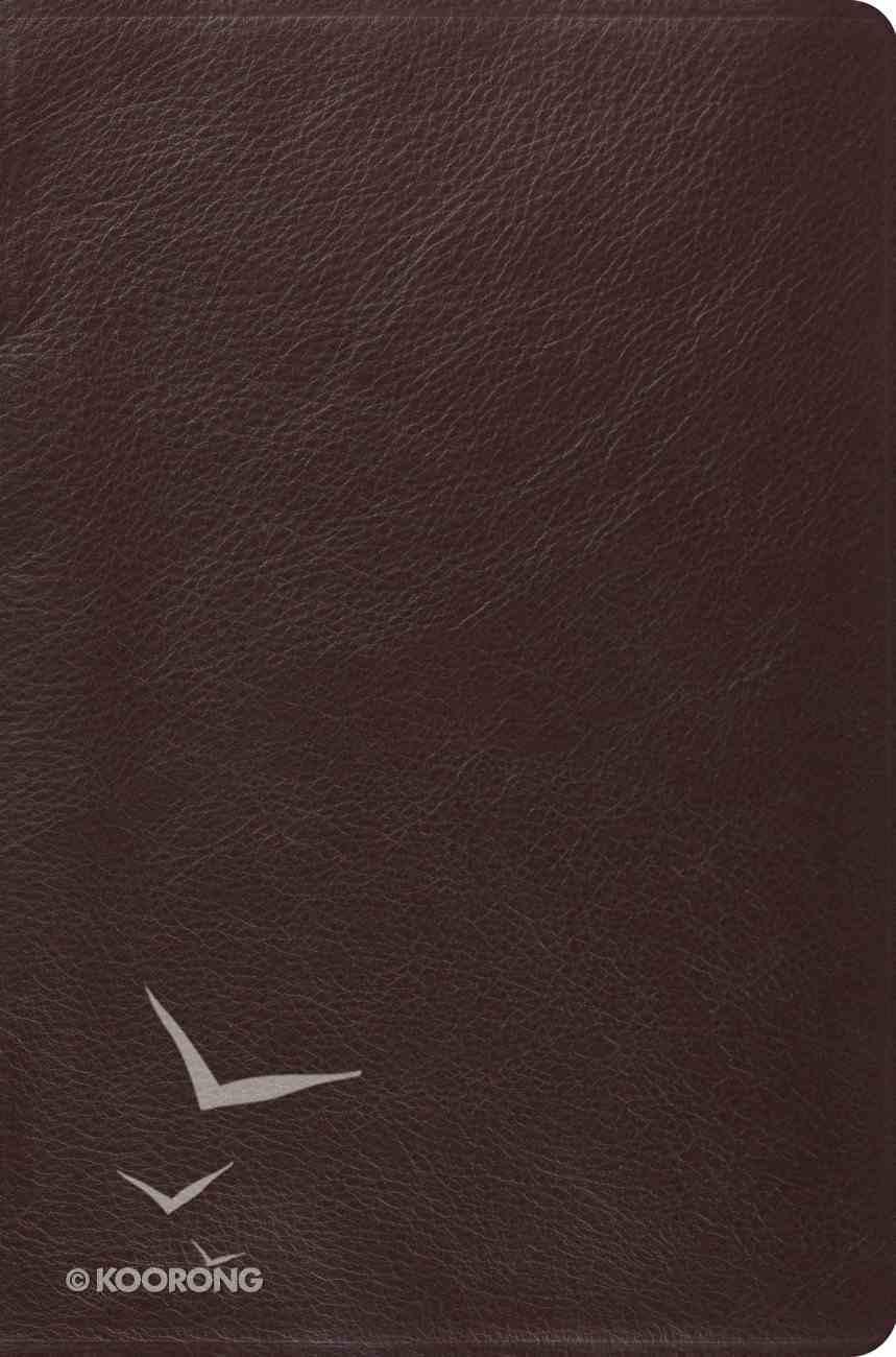 ESV Single Column Legacy Bible Brown Genuine Leather