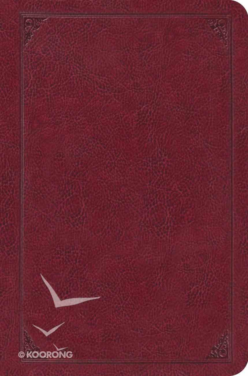 ESV Single Column Legacy Bible, Trutone Burgundy, Flame Design Imitation Leather