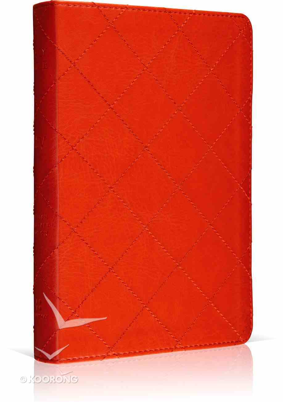 ESV Personal Size Reference Bible Trutone Berry Quilt Design Imitation Leather