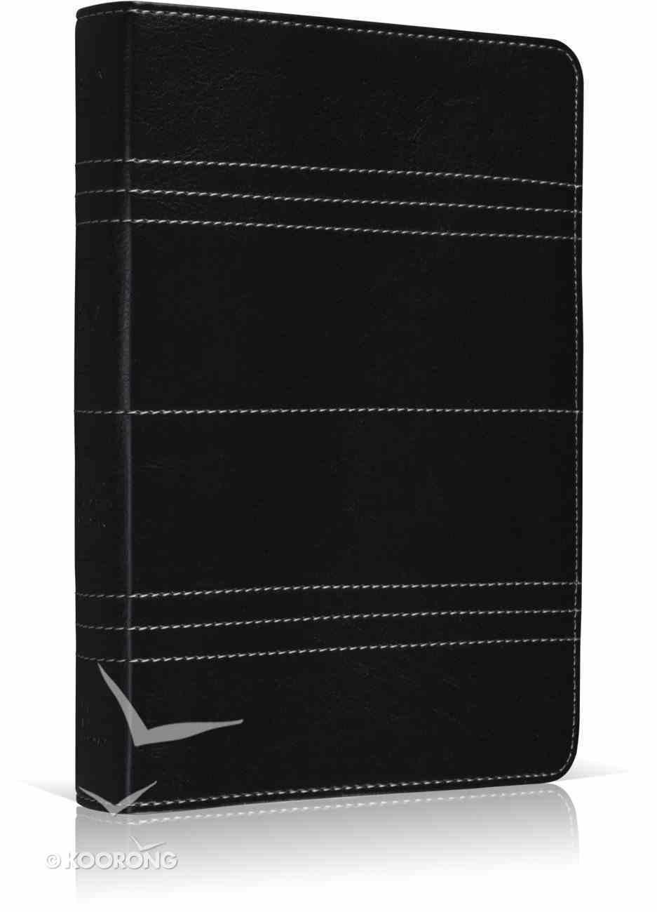 ESV Personal Size Reference Bible Trutone Graphite Stitch Design Imitation Leather