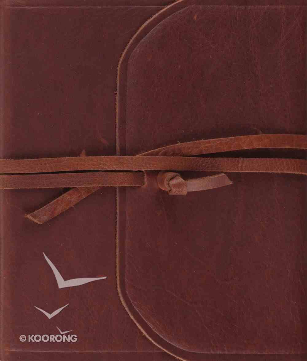 ESV Premium Single Column Journaling Bible Brown Flap With Strap (Black Letter Edition) Genuine Leather
