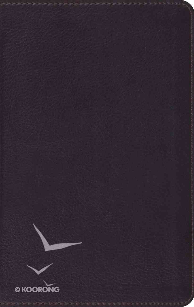 ESV Large Print Compact Bible Trutone Coffee Imitation Leather