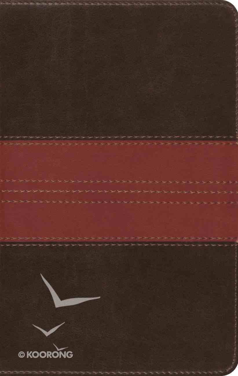 ESV Large Print Compact Bible Trutone Forest/Tan Trail Imitation Leather