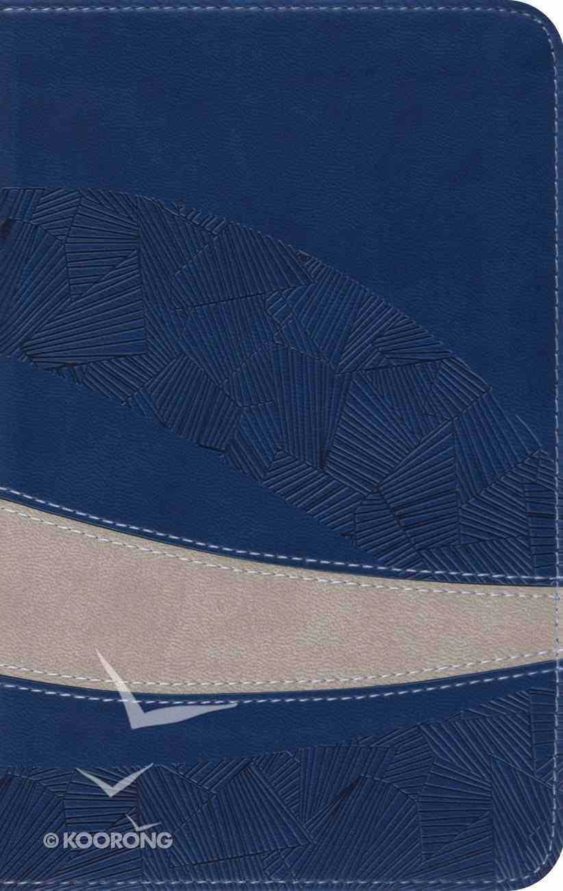 ESV Large Print Compact Bible Trutone Navy/Taupe Curve Imitation Leather