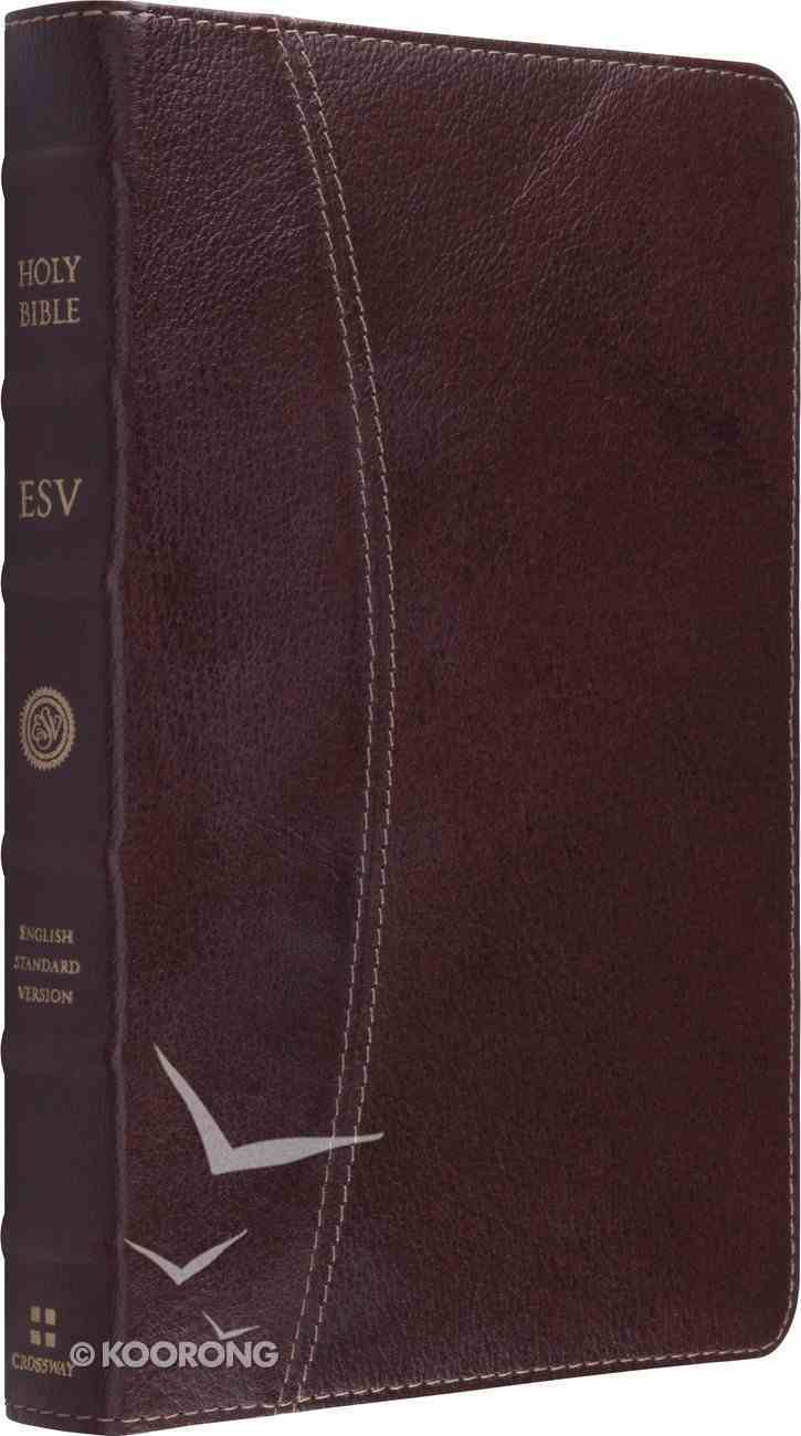 ESV Vintage Thinline Bible Cowhide Chestnut Hemisphere Genuine Leather