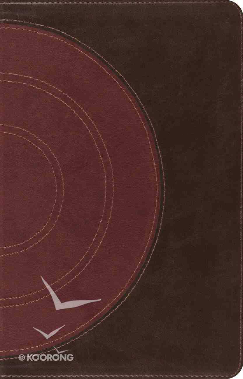 ESV Large Print Thinline Refernce Bible Trutone Tan Forest Core Design Imitation Leather