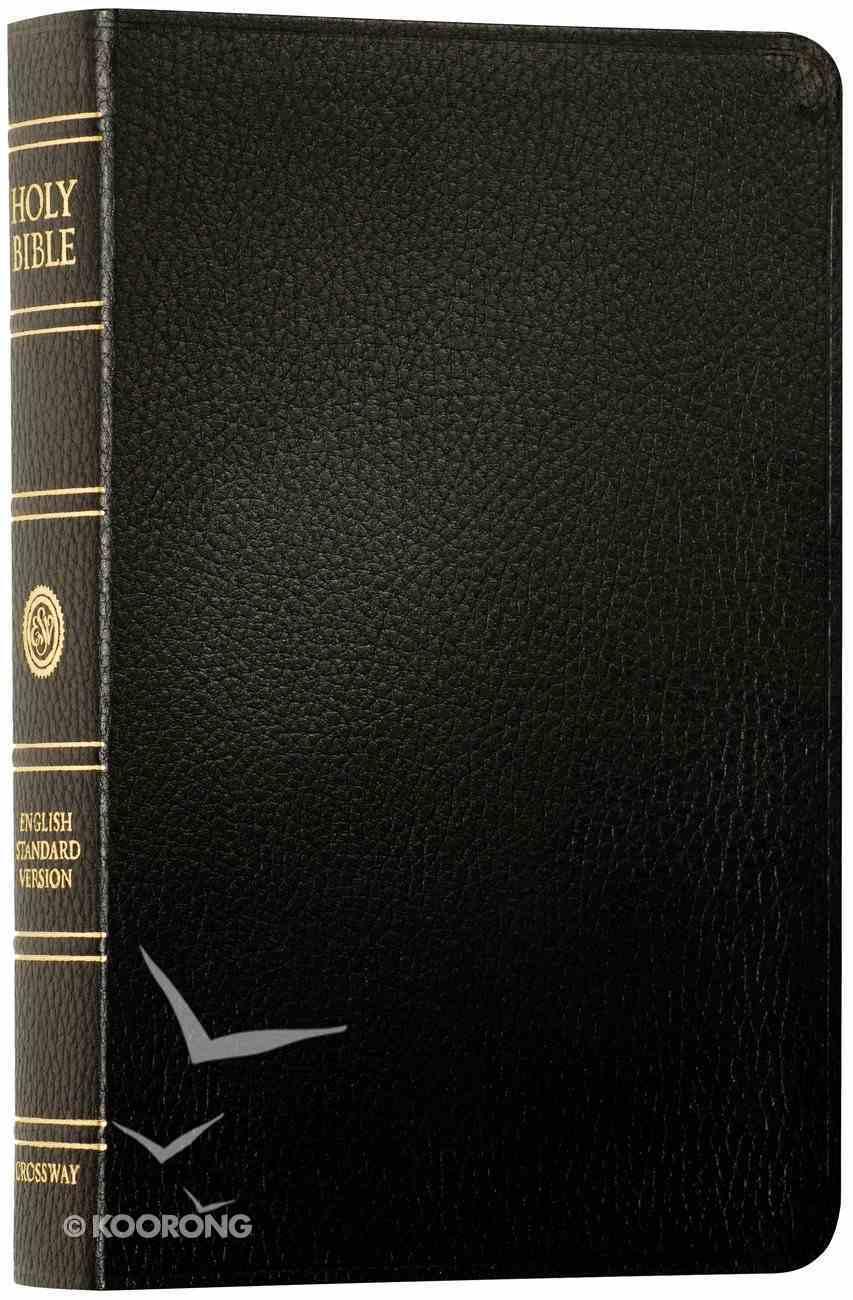ESV Classic Reference Bible Black Black Letter Genuine Leather