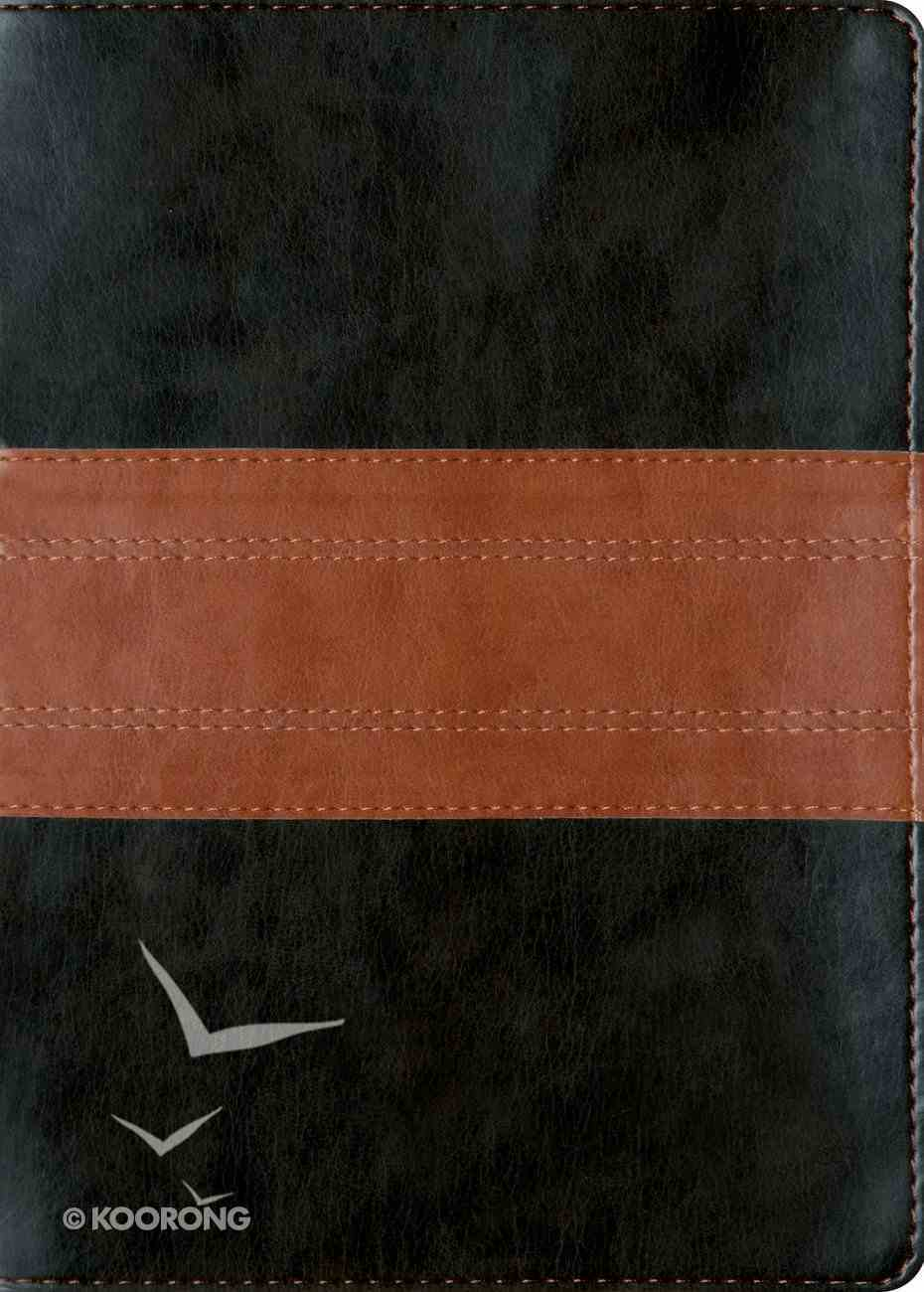 ESV Macarthur Study Bible Black/Tan Trail Design Imitation Leather