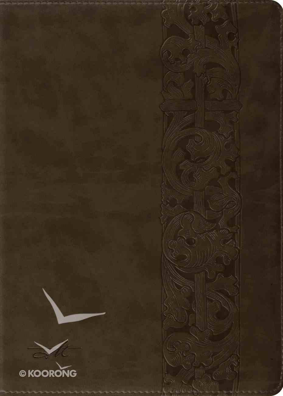 ESV Macarthur Study Bible Trutone Olive Woodcut Design Imitation Leather