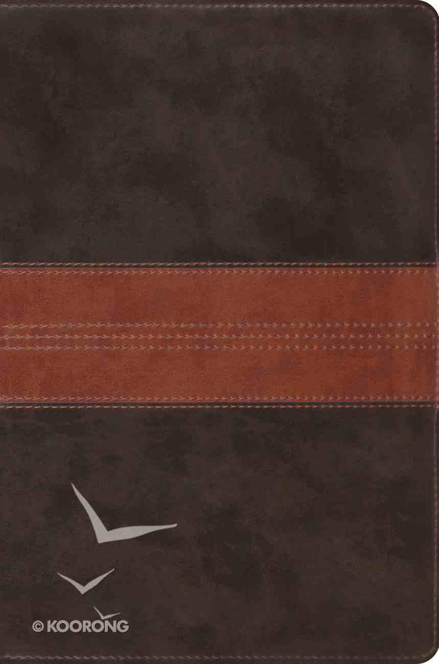 ESV Single Column Legacy Bible Forest Tan Trail Design Imitation Leather