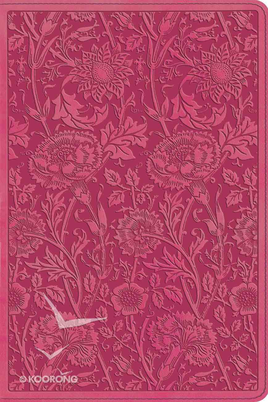 ESV Personal Reference Trutone Berry Floral Design (Black Letter Edition) Imitation Leather