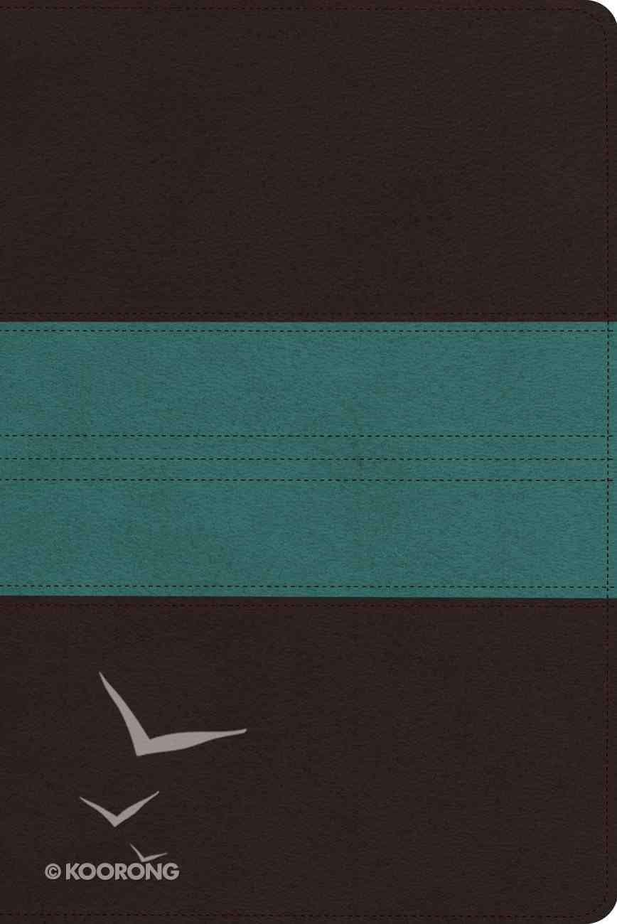 ESV Personal Reference Trutone Dark Brown/Teal Trail Design (Black Letter Edition) Imitation Leather
