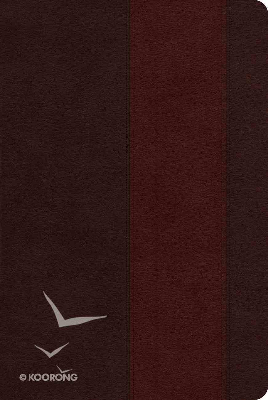ESV Single Column Heritage Bible Trutone Brown/Burgundy Band Design Imitation Leather