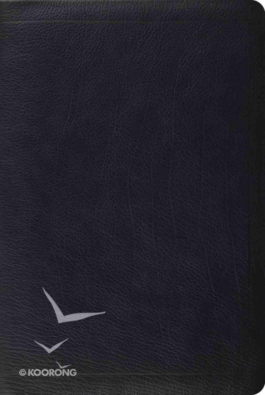 ESV Single Column Heritage Bible Calfskin Black Genuine Leather