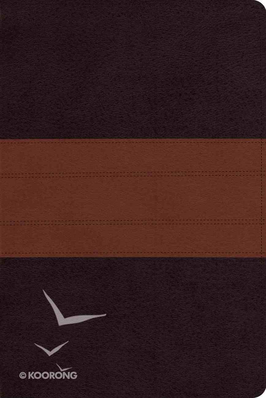 ESV Study Personal Size Bible Trutone Deep Brown/Tan Trail Design Imitation Leather