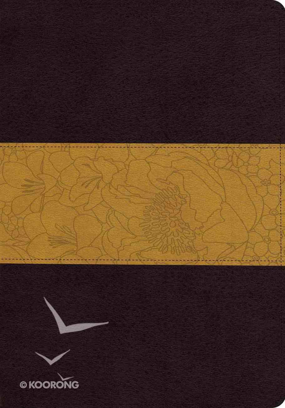 ESV Large Print Trutone Coffee/Goldenrod Imitation Leather