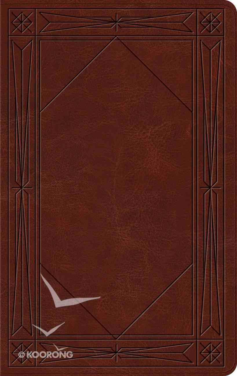 ESV Thinline Trutone Brown Window Design Imitation Leather