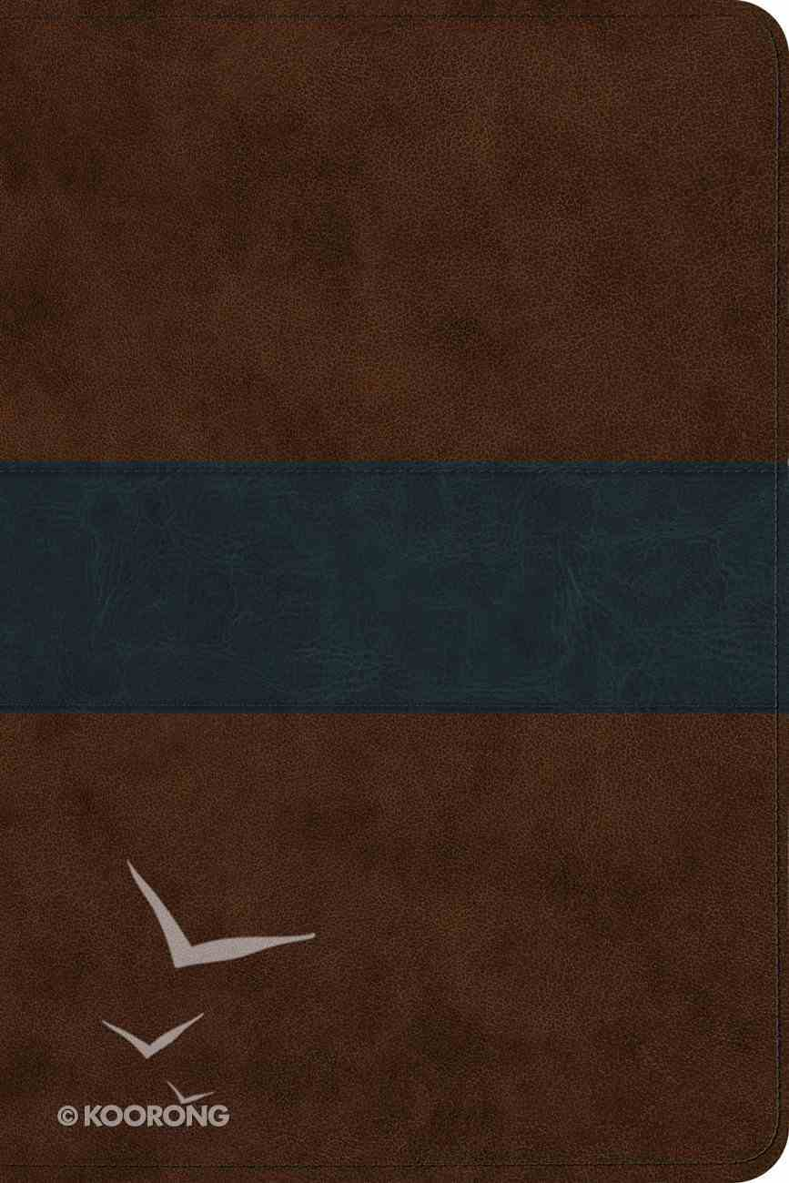 ESV Gospel Transfromation Bible Brown/Navy Trutome Trail Design Imitation Leather