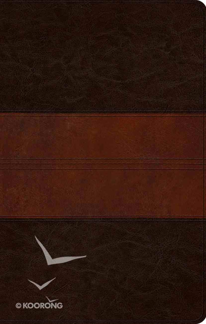 ESV Ultrathin Bible Trutone Deep Brown/Tan Trail Design (Black Letter Edition) Imitation Leather