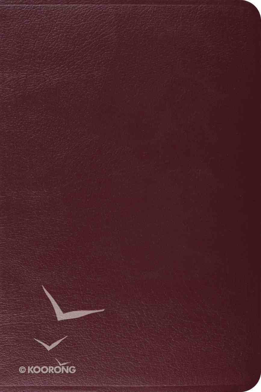 ESV Gospel Transformation Bible Burgundy Genuine Leather